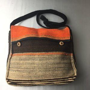 Handbags - Multicolored Wool crossbody bag